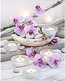 1000 piezas de rompecabezas avanzados, rompecabezas de madera de orquídeas y velas pueden relajar el estado de ánimo, es una opción ideal para aliviar el estrés, rompecabezas de tangram exquisitos.