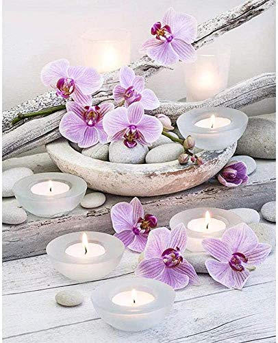 1000 piezas de rompecabezas avanzados, rompecabezas de madera de orquídeas y velas pueden relajar el estado de ánimo, es una opción ideal para aliviar el estrés, rompecabezas de tangram exquisitos