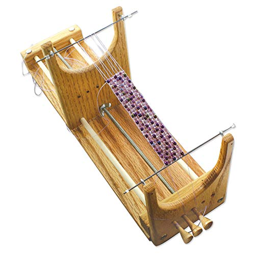 The Beadsmith Rick's Beading Loom, 13.5 x 3.75 x 4.5 inches, Wooden, Two-Warp...