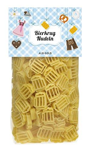 Alb-Gold Bierkrug-Pasta, Nudeln in Form von Biergläsern, Geschenk zum Oktoberfest, Jungesellenabschied, Grillparty, für Bierfans, Motivnudeln