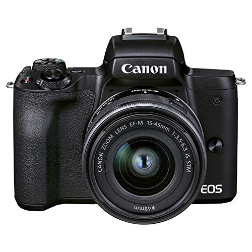 Canon ミラーレス一眼カメラ EOS Kiss M2 標準ズームレンズキット ブラック KISSM2BK-1545