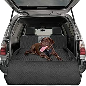 Nat-Hom Cargo Liner for Dogs, SUV Cargo Cover for Dogs Waterproof,Non-Slip,Machine Washable for SUVs Sedans Vans-Black