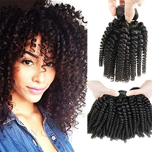 Morningsilkwig 1Tissage Afro Cheveux Naturels Bresilien Cheveux 10 Pouces Vierges Afro Kinky Curly Cheveux Humains Weave cheveux naturel brésilienne100g/Tissage