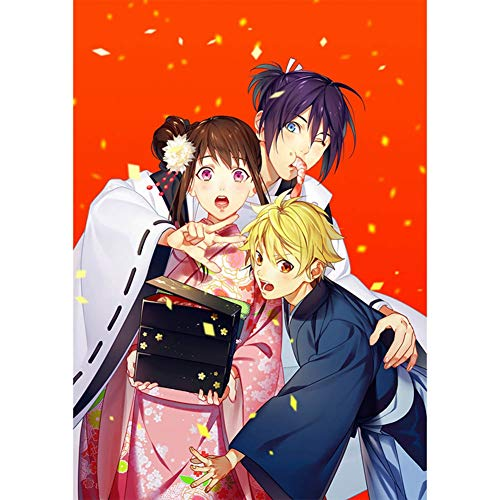 Haushele OFD Anime ノラガミ Noragami beschichtetes Papier Poster Bar Home Schlafzimmer Dekoration Thema Wandbild Poster(H06)