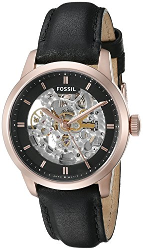 Fossil Men's ME3084 Townsman Automatic Black Leather Watch