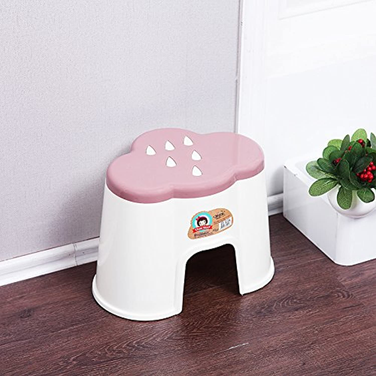 Dana Carrie Cartoon stool creative clouds-type cartoon stool thick changing shoes stool cute baby stool 5PCS, red 25×17×14CM