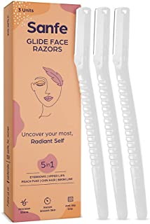 Sanfe Glide Face Razor for Women| For Safe & Painfree Facial Hair Removal Pack of 1 (3 Pcs)
