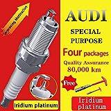 4Pcs/ Suitable For Q1 Q2L Q3 Q4 Q5L Q5 Q6 Q7 For Audi Iridium Platinum Spark...