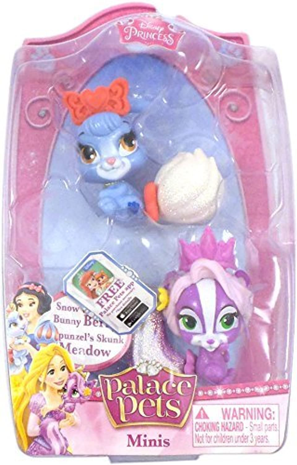 Palace Pets Minis 2 Figures  Snow White's Bunny Berry and Rapunzel's Skunk Meadow