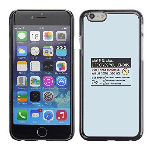 Cubierta protectora del caso de Shell Plástico || Apple Iphone 6 Plus 5.5 || La vida le da Limón @XPTECH