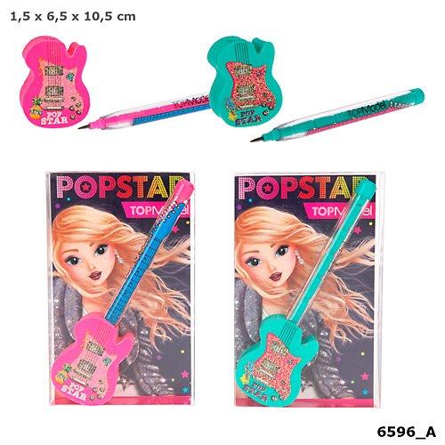 depesche TOPModel Radierer und Steckbleistift Set Pink Popstar *Neu & OVP*