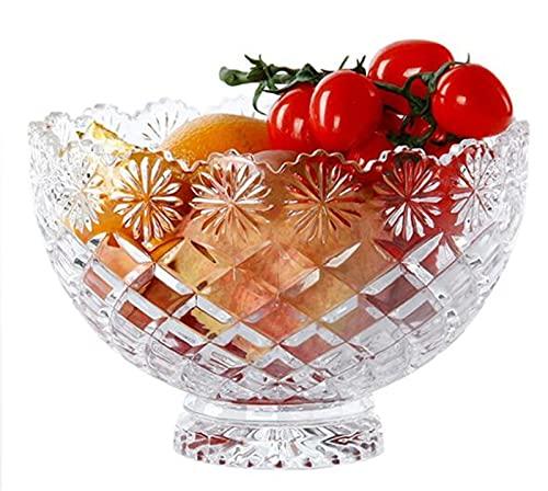 NAXIAOTIAO 2-Piece Set Glass Ice Cream Cup, Salad Bowl, Milkshake Cup, Creative Crystal Glass Bowl