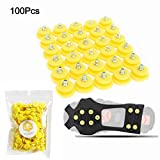 FIVE BEE 100Pcs/Pack Anti Slip Snow Ice Crampon Spikes- Durable Grips Grippers Crampon