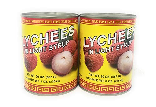 Asuka Lychees in light syrup 20oz, 2 Pack