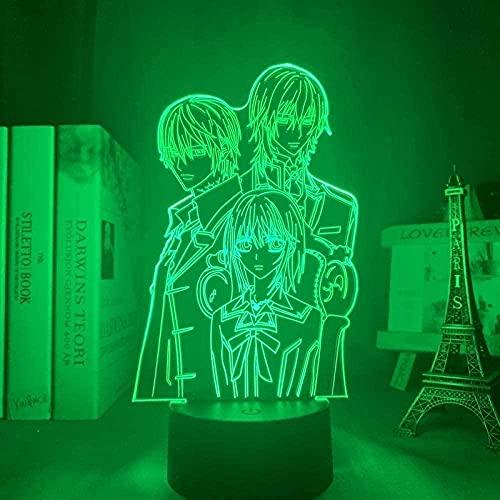 3D Sinfonía Luces LED Anime Lámpara Espada Arte Online Hunter x Hunter Naruto Mejor Estrella del Mar Luna Aion Luz de Noche Regalo de Cumpleaños para Niños-N11