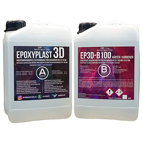 1,4 kg epoxyhars EPOXYPLAST 3D tot 10 cm (100 mm) giethoogte ultra helder 2K EP rivertisch rivertable bubbelvrij lijmvrij epoxy hars voor hout hars giethars tafel