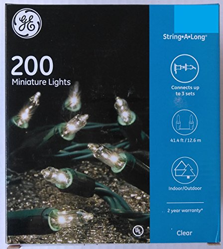GE String-A-Long 200 (41.4-ft) Indoor/Outdoor Clear White Miniature Lights, Christmas / Holiday / Patio / Party