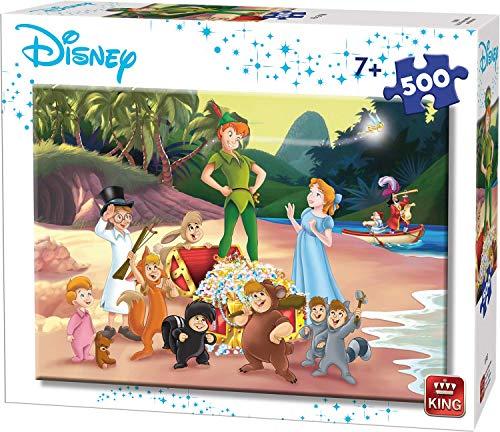 King- Rompecabezas de Peter Pan de Disney, 500 Piezas. (55913)