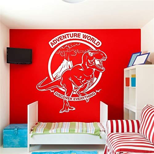 stickers muraux Jurassic Adventure World Découvrez tout Tyrannosaur Garçons pour les chambres d'enfants Citation Art