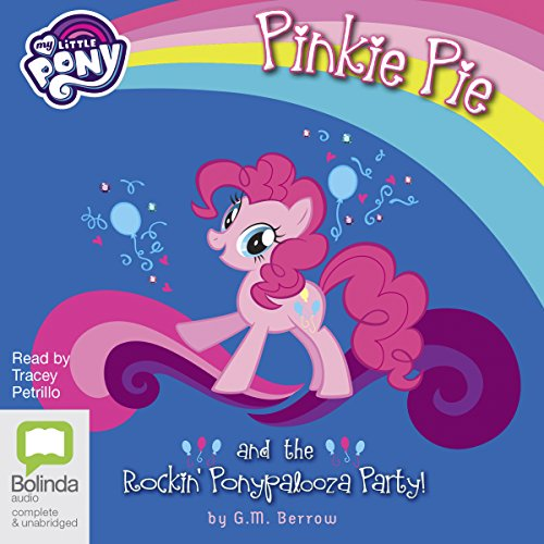Pinkie Pie and the Rockin' Ponypalooza Party! audiobook cover art