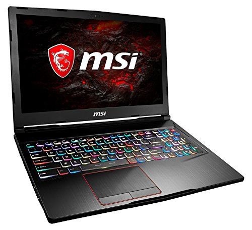MSI GE63VR 7RF-040DE Raider (39,6 cm/15,6 Zoll/120Hz) Gaming-Laptop (Intel Core i7-7700HQ, 16GB RAM, 256 GB SSD + 1 TB HDD, Nvidia GeForce GTX 1070, Windows 10 Home) schwarz GE63