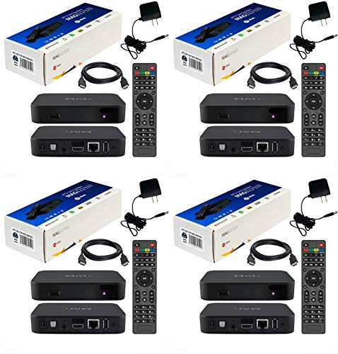 {PACKAGE OF 4 } MAG 322 W1 IPTV BOX + IN BUILT WIFI + HDMI CABLE + REMOTE + POWER ADAPTER