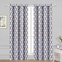 Wontex Lattice Printed Thermal Insulated Blackout Curtains
