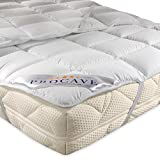 PROCAVE Micro-Comfort, Microfiber Mattress Protector, Soft Touch Mattress Cover, Breathable Microfiber Mattress Topper, Made in Germany, 90x200 cm
