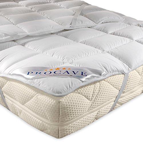 PROCAVE Micro-Comfort in Diverse Misure |Made in Germany | Coprimaterasso in Microfibra di Poliestere | Soft Touch | Adatto Anche per materassi a Molle e ad Acqua | 160x190 cm