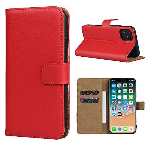 Smart Fit Sport SFS Lederhülle für iPhone X/XS 4/4S 5/5S 5C 6/6S 6 Plus 7/8 7 Plus/8 Plus (für iPhone 5C, Rot)
