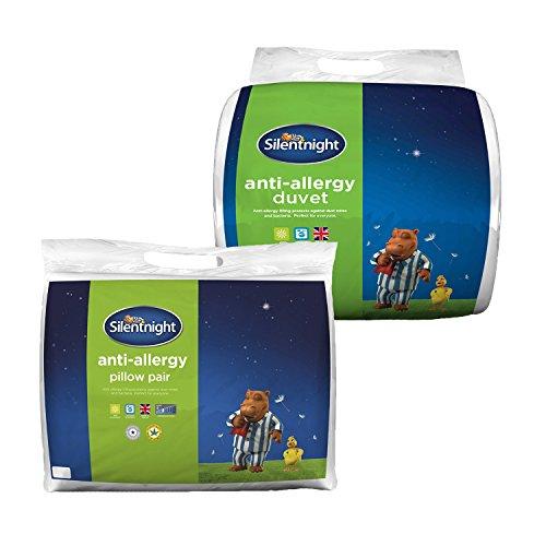 Branded Bedding Silentnight Anti-Allergy Duvet & Pillow Pair - 10.5 Tog - Single