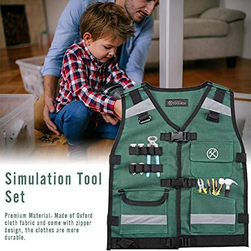PIGMAMA Herramientas para niños Juguetes Conjunto de ropa de trabajo Juegos de imaginación Juguetes educativos para niños pequeños various occasions cute