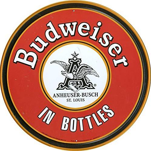 WallAdorn Budweiser En Botellas Cartel de Hierro Pintura Cartel de Chapa Vintage decoración de Pared para Cafe Bar Pub Inicio Cerveza Decoración Artesanía