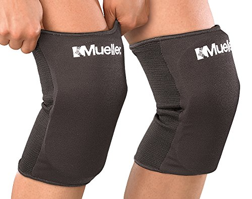 Mueller Multi-Sport Knee Pads, 1 Pair, Black, One...
