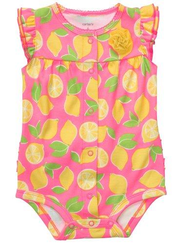 Carter's zomer babyspeler rompertje onesie meisje jumpsuit eendelig bloemen