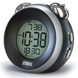 RYHOR-K Loud Alarm Clock for Heavy Sleepers – Simple Annoying Twin Bell for Hearing Impaired – Dual Battery Operated Snooze Portable Travel Digital for Kids