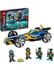 LEGO 71752 NINJAGO ninja undervattensspeed, ubåtleksak från 8 år, uppsatt med 4 ninja minifigurer