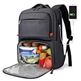Lunch Backpack for Women, Insulated Cooler backpack with lunch compartment
