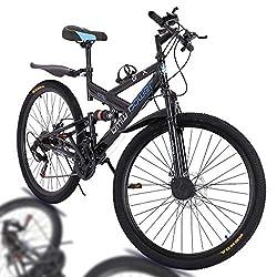 professional 26inch Mountain Bike High Carbon Steel 21 Speed MTB Bike Full Suspension Men's / Women's…