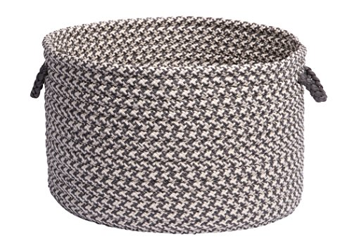 Colonial Mills Outdoor Houndstooth Tweed Utility Basket, 14 by 10-Inch, Gray