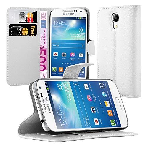 Cadorabo Funda Libro para Samsung Galaxy S4 Mini en Blanco ártico – Cubierta Proteccíon con Cierre Magnético, Tarjetero y Función de Suporte – Etui Case Cover Carcasa