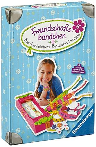 Ravensburger 18280 Freundschaftsbändchen - Freche Armbänder aus bunten Garnen weben, DIY für Kinder ab 6 Jahren