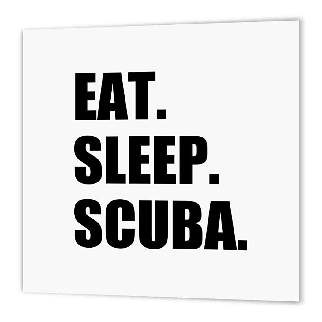 3dRose ht_180438_3 Eat Sleep Scuba Dive-Diving Enthusiast Passionate Diver-Black Text-Iron on Heat Transfer Paper for White Material, 10 by 10-Inch