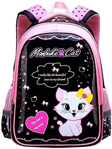 EGXSQ Bozaap Backpack For Girls And Teens,kids School Backpack,cute Cat Cartoon Multi-pocket School Bags Rucksack Bookbag For Girls