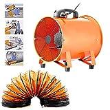 Ventilateur portable Axial souffleur atelier extracteur Ventilateur Atelier Extraction 300mm 5 m avec conduit