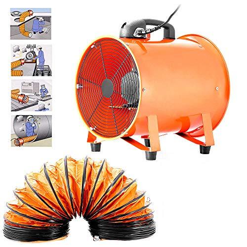 Ventilador axial portátil de 300 mm de diámetro con conducto de 5 m