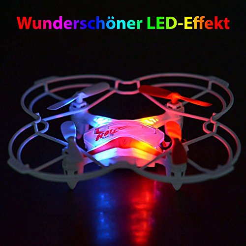 5-Kanal 2.4Ghz RC Quadcopter mit Fernsteuerung oder Sprachsteuerung, 3D 6-axis Gyro, Headless, RTF