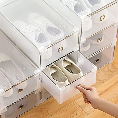 linger 5pc Caja de Zapatos Transparente Caja de Zapatos Cajas de Zapatos Engrosada a Prueba de Polvo Caja de Almacenamiento Zapatos Organizador SuperimposedCombation Cabinete de Zapatos