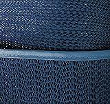 Tischdecke Gartendecke mit Saum abwaschbar Gartentischdecke Balkon Terrasse wetterfest (140 x 180 cm oval, Blau)