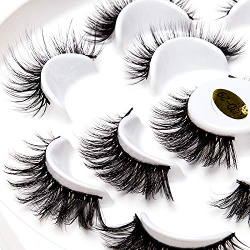 3D Faux Mink Eyelashes Fluffy Hand-made Dramatic Makeup Thick Long Multilayer False Eyelashes Pack of 7 Pairs Cruelty Free by ICYCHEER (2)